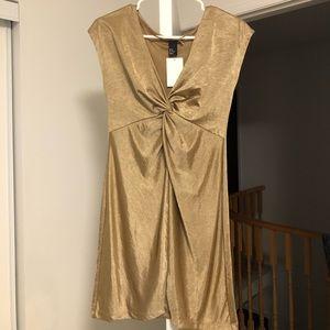 *3 for $20*Gold H&M mini dress Xs nwt